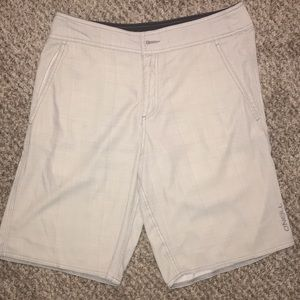 O'Neill Hybrid Plaid Boardshorts (MISSING BUTTON)